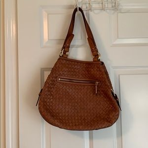 Cole Haan brown woven purse